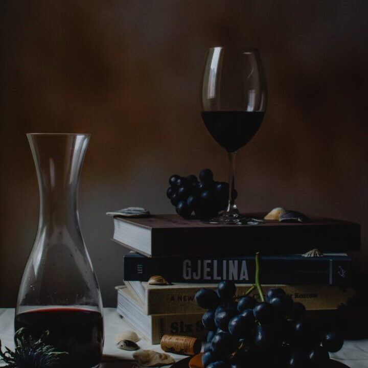 decanter and wine glass